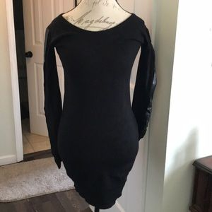Say What Black Sweater Dress